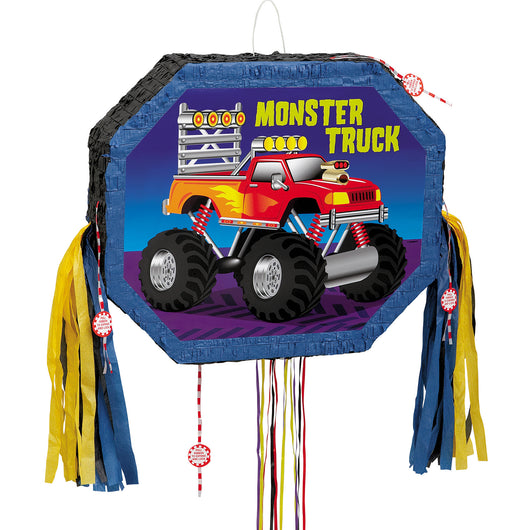 Monster Truck Pull Pop Out Pinata