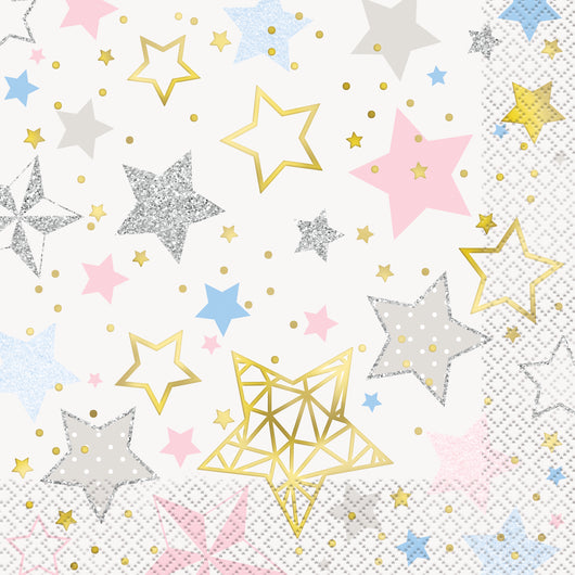 Twinkle Twinkle Little Star Luncheon Napkins, 16ct - Foil Stamped