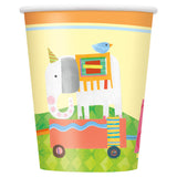 Circus Animal 9oz Paper Cups, 8ct