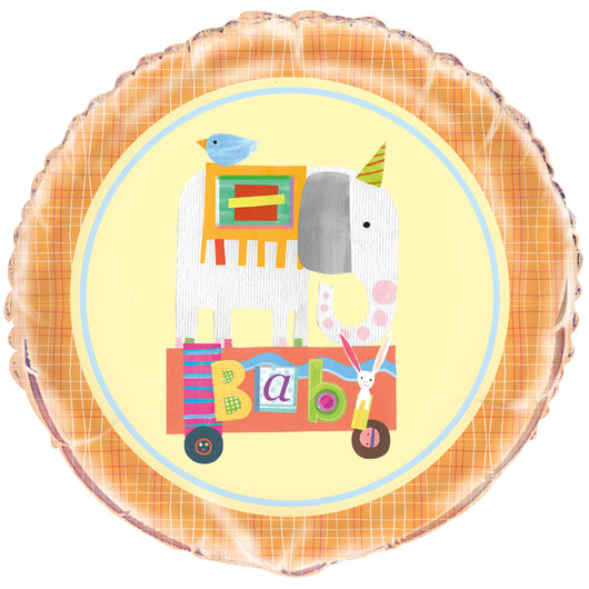 Circus Animal Round Foil Balloon 18
