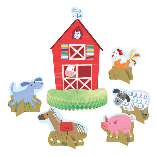 Farm Party Centerpiece Decorations, 6ct