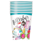 Spa Party 9oz Paper Cups, 8ct