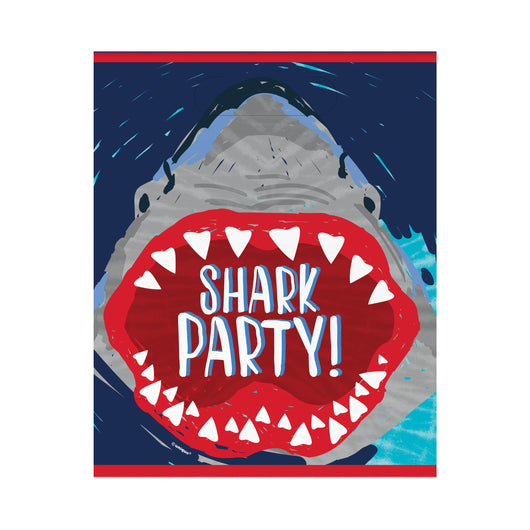 Shark Party Loot Bags, 8ct