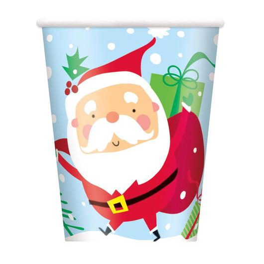 Colorful Santa 9oz Paper Cups, 8ct