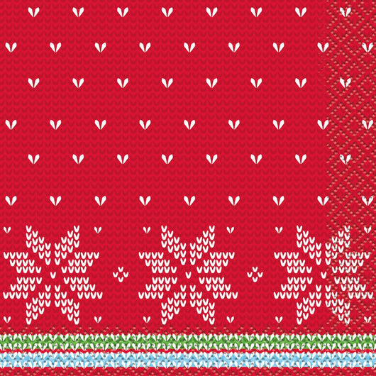 Ugly Sweater Christmas Beverage Napkins, 16ct