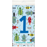 "Bug 1st Birthday Rectangular Plastic Table Cover, 54""x84"""