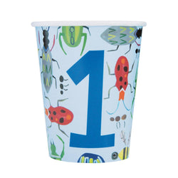 Bug 1st Birthday 9oz Paper Cups, 8ct