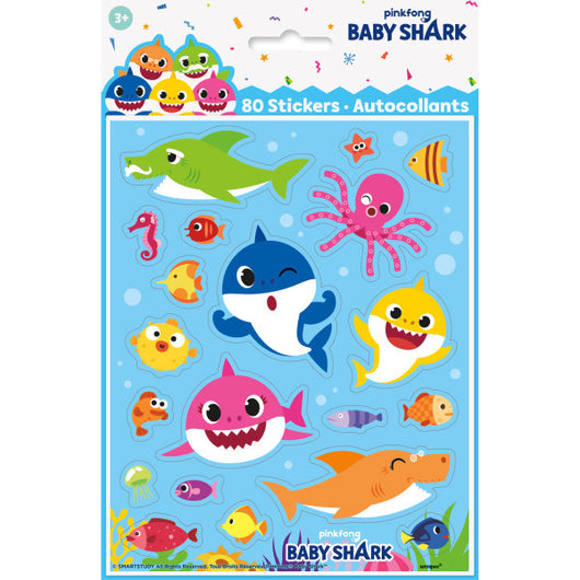 Baby Shark Stickers, 24ct