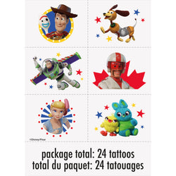 Disney Toy Story 4 Tattoos, 24ct