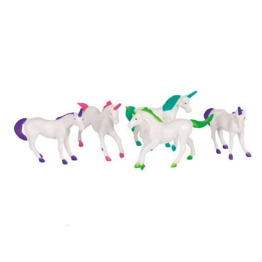 Plastic Unicorn Figurine Favors, 8ct