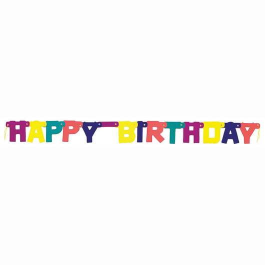 Rainbow Birthday Jointed Banner