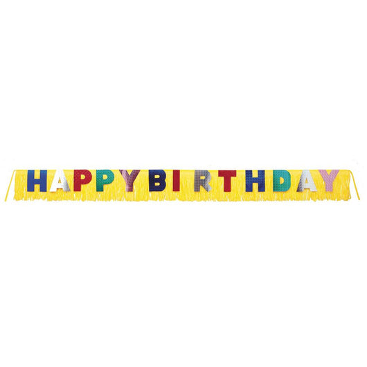 Giant Birthday Fringe Banner, 9.5ft