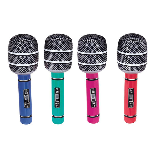 Inflatable Giant Microphone, Assorted