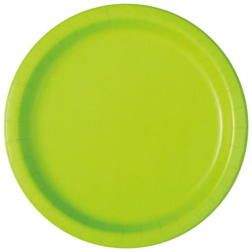 Neon Green Solid Round 7