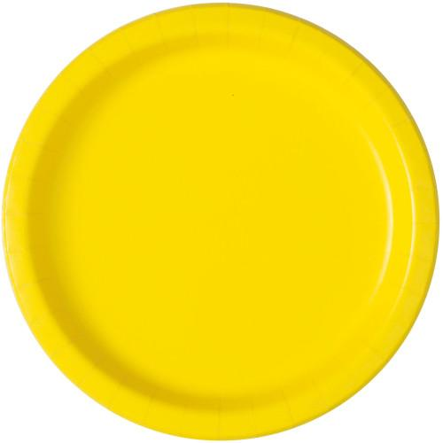 Neon Yellow Solid Round 7