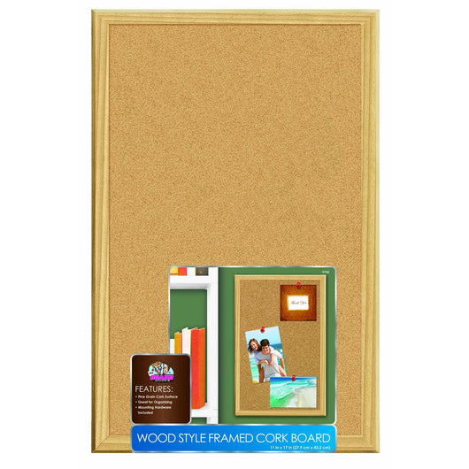 Cork Board Wood Frame 11 x 17 (4)