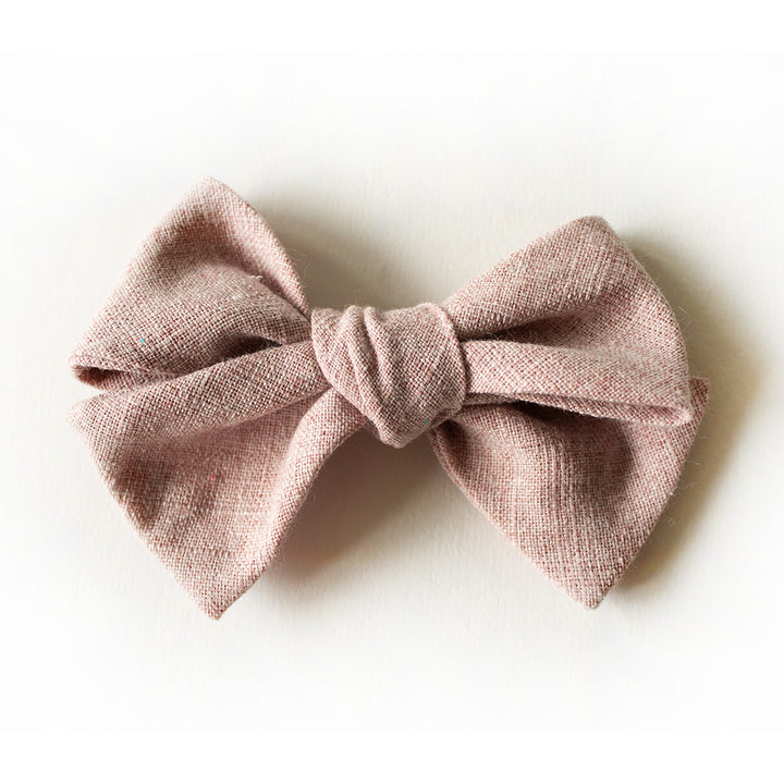 Hair bow for girls, reversible hair bow, baby hair bow on band, linen hair bow on band, matching bow, baby hair clip, gifts for baby girl, hair sash for mom, father daughter matching