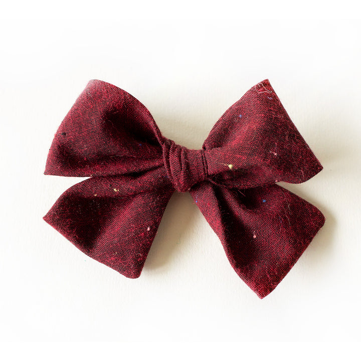 black cherry hair bow for girls