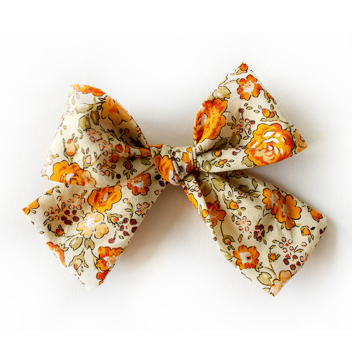 Golden Meadows Floral Hair Bow for Girls
