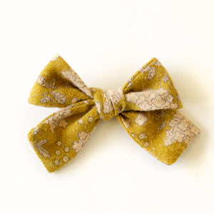 Lemongrass Floral Hair Bow for Girls