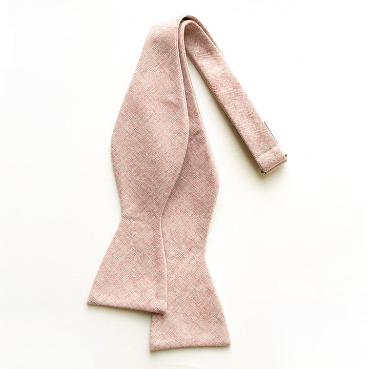 Blushing Linen Bow Tie for Men