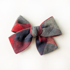 Lenox Plaid Hair Bow for Girls