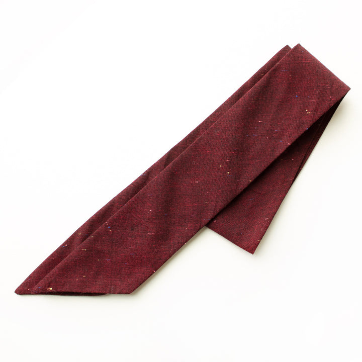 Black Cherry Linen Everything Bow for Girls & Women - Neck scarf & Hair wrap