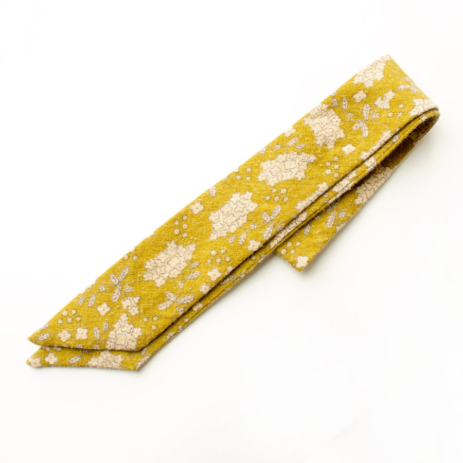 Lemongrass Floral Everything Bow for Girls & Women - Neck scarf & Hair wrap