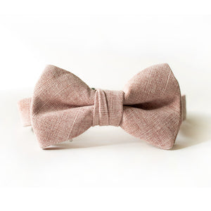 Blushing Linen Bow Tie for Boys