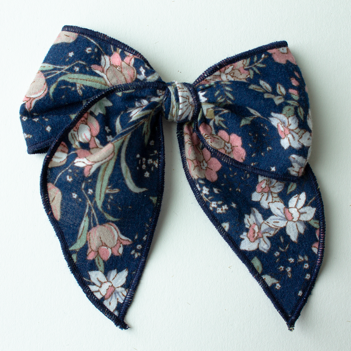 Cape Cod Hair Bow for Girls - Large