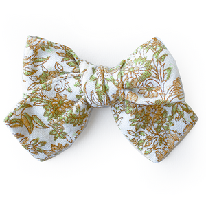 Citron Floral Hair Bow for Girls