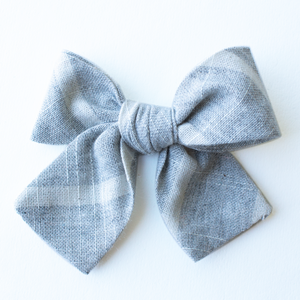 Cloudy Stripe Hair Bow for Girls