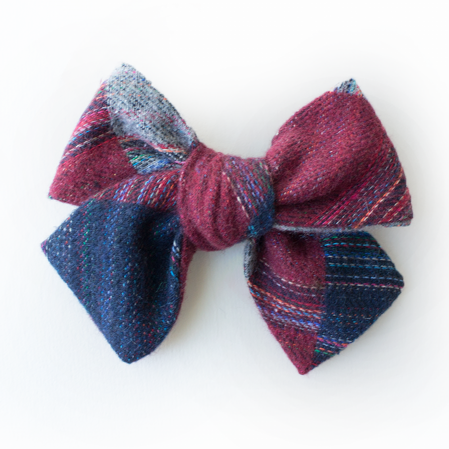 Cozytown Plaid Hair Bow for Girls