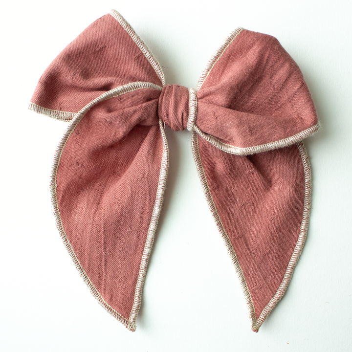 Dusty Mauve Hair Bow for Girls - Large