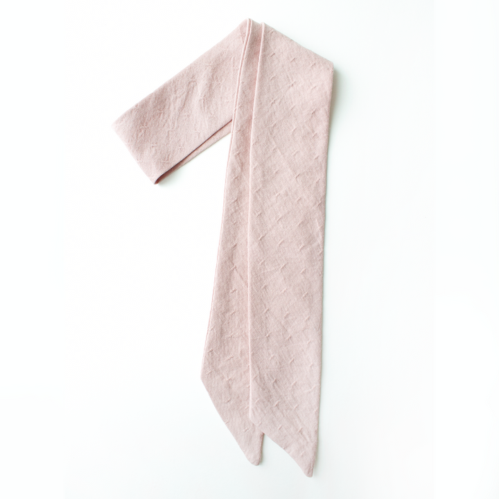 Dusty Rose Everything Bow for Girls & Women - Neck scarf & Hair wrap