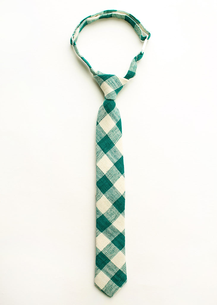 Last Chance Clearance -Jade Gingham Boys Tie