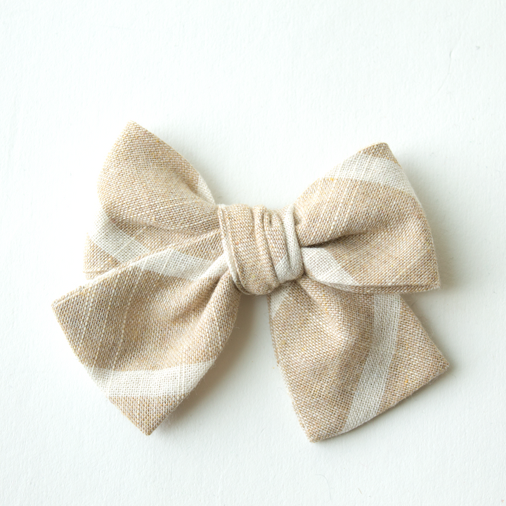 La Jolla Stripe Hair Bow for Girls