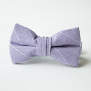 Lilac Stripe Bow Tie for Boys