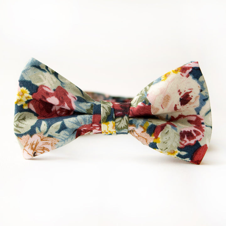 Mulberry Floral Bow Tie for Boys