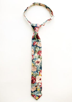Mulberry Floral Boys Tie