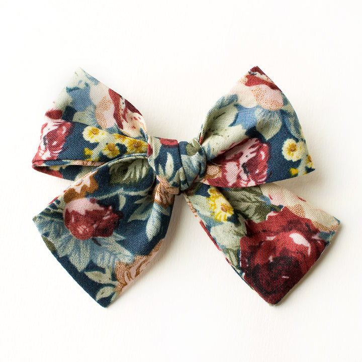 Mulberry Floral Hair Bow for Girls