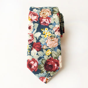 Mulberry Floral Tie
