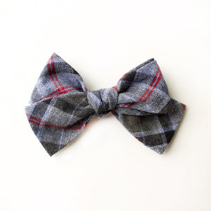 Nicholas Plaid Hair Bow for Girls