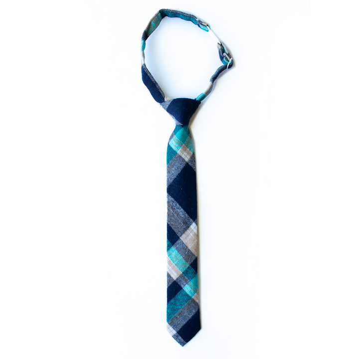 Nolan Plaid Boys Tie
