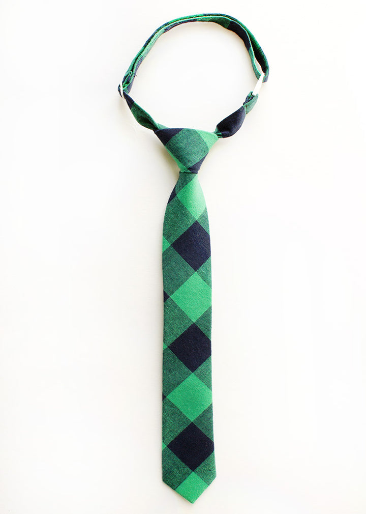 Last Chance Clearance-Princeton Plaid Boys Tie