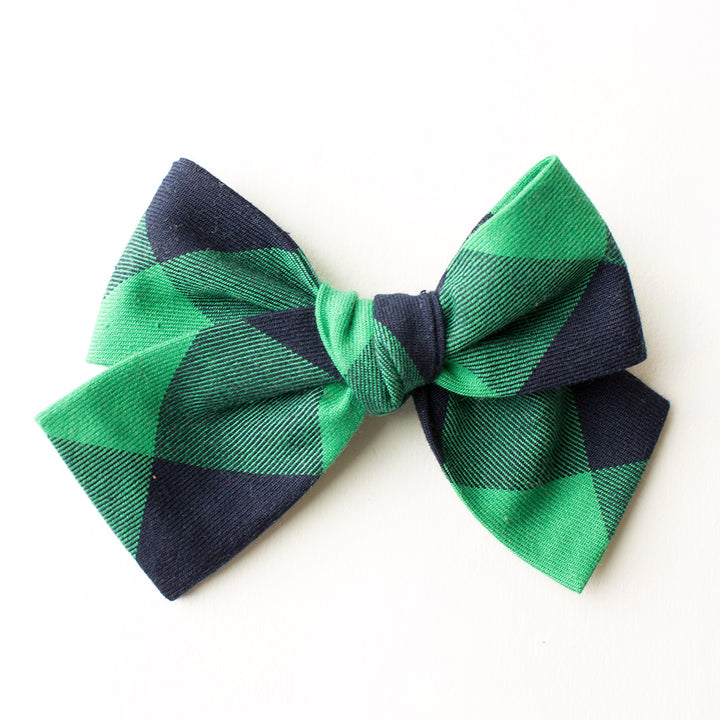 Last Chance Clearance-Princeton Plaid Hair Bow for Girls