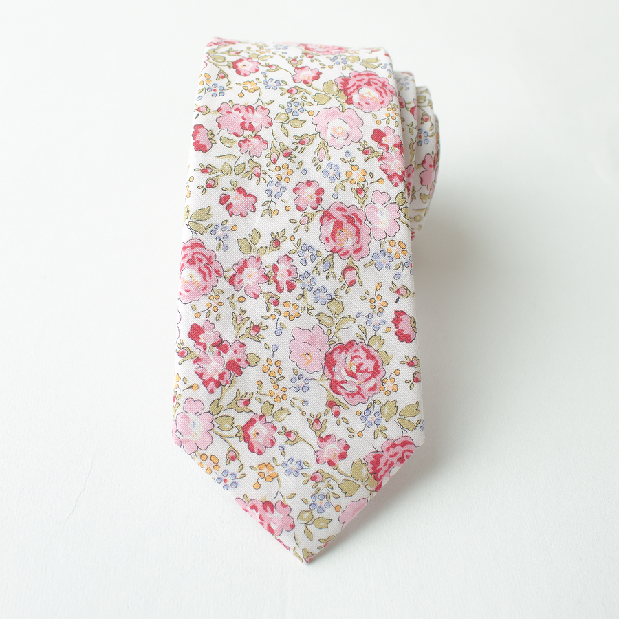 Purdy Pink Floral Tie