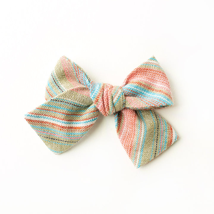 Rainbow Trout Stripe Hair Bow for Girls