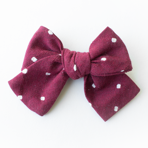 Red Dot Hair Bow for Girls