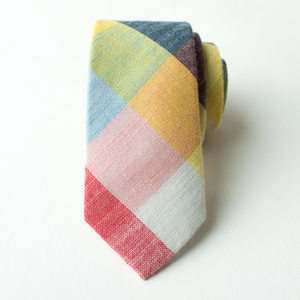 $10 Tuesday Deal Rubik Cube Plaid Tie